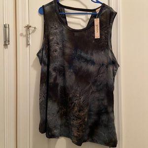 Gemstone Tie-dye Blouse